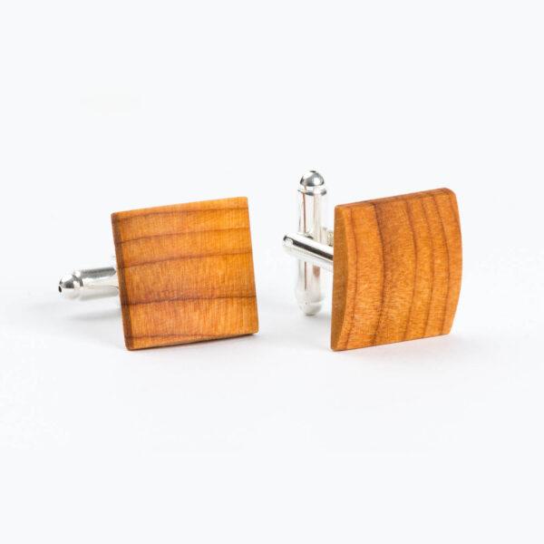 drewniane spinki do mankietów - cis Lerymond, made in Poland