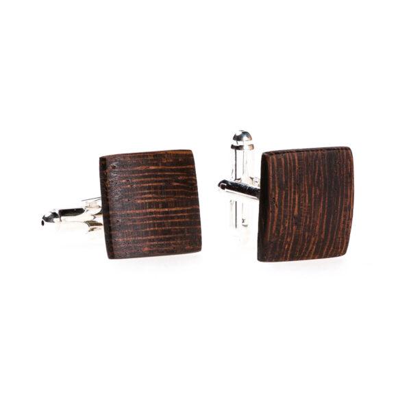 drewniane spinki do mankietów, stonowane, subtelne Lerymond