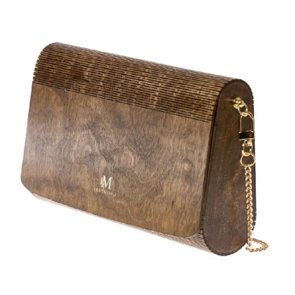 drewniana torebka damska dąb antyczny Lerymond - stylowa