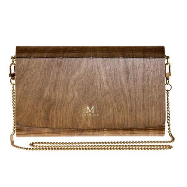 drewniana torebka Diana - orzech, ręcznie wykonana