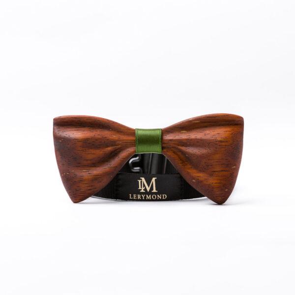 drewniana muszka papilio - merbau, ręcznie wykonana | Lerymond
