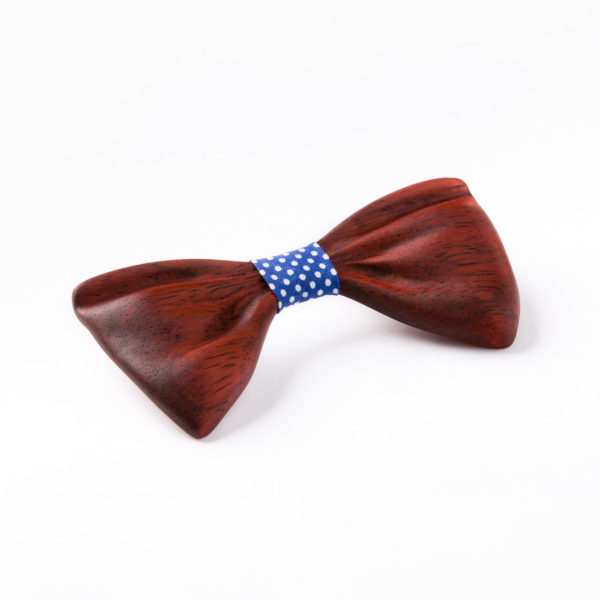 drewniana muszka model Papilio wykonana z drewna egzotycznego padouk