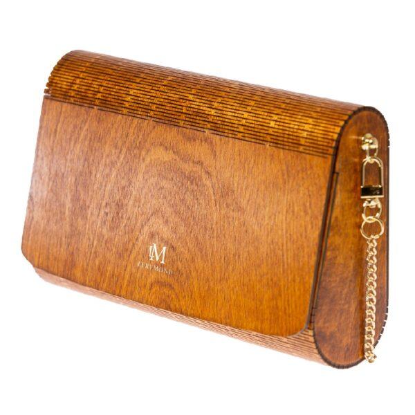 Drewniana torebka damska Diana - ŻYWY PADOUK